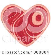 Clipart Steak Heart Royalty Free Vector Illustration