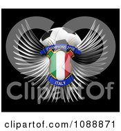 Clipart 3d Winged Italy Shield And Soccer Ball Royalty Free CGI Illustration