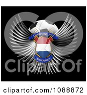 Clipart 3d Winged Netherlands Shield And Soccer Ball Royalty Free CGI Illustration