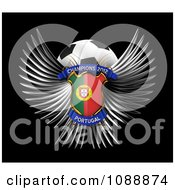 Clipart 3d Winged Portugal Shield And Soccer Ball Royalty Free CGI Illustration
