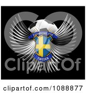 Clipart 3d Winged Sweden Shield And Soccer Ball Royalty Free CGI Illustration