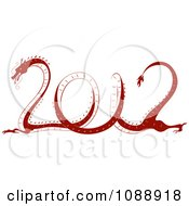 Clipart Red 2012 New Year Dragon Royalty Free Vector Illustration