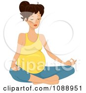 Clipart Pregnant Woman Meditating In The Lotus Pose Royalty Free Vector Illustration by BNP Design Studio