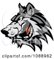 Clipart Angry Wolf Mascot Royalty Free Vector Illustration by Chromaco
