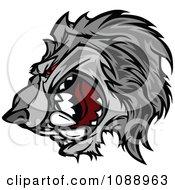 Aggressive Wolf Mascot