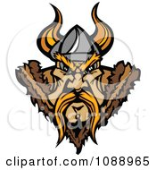 Clipart Tough Viking Warrior Face Royalty Free Vector Illustration by Chromaco