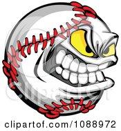 Clipart Tough Baseball Mascot Royalty Free Vector Illustration