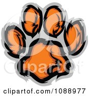 Clipart Tiger Paw Print Royalty Free Vector Illustration by Chromaco