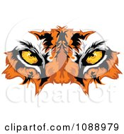 Clipart Tiger Mascot Eyes Royalty Free Vector Illustration by Chromaco