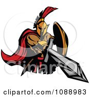 Clipart Spartan Roman Warrior Stabbing With A Sword Royalty Free Vector Illustration