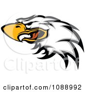 Clipart Attacking Bald Eagle Mascot Face Royalty Free Vector Illustration by Chromaco