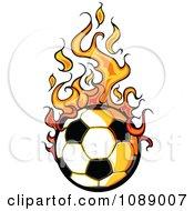 Clipart Fiery Soccer Ball Royalty Free Vector Illustration