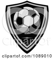 Clipart Soccer Ball Shield Badge Royalty Free Vector Illustration by Chromaco