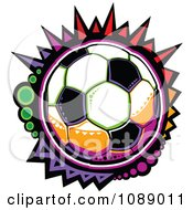 Clipart Colorful Mosaic Soccer Ball Royalty Free Vector Illustration by Chromaco
