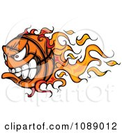Clipart Fast Flaming Basketball Mascot Royalty Free Vector Illustration