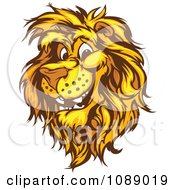 Clipart Friendly Male Lion Mascot Royalty Free Vector Illustration