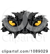 Clipart Yellow Black Panther Mascot Eyes Royalty Free Vector Illustration by Chromaco