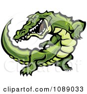 Clipart Attacking Alligator Mascot Royalty Free Vector Illustration by Chromaco