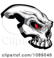 Clipart Demonic Skull With Red Eyes Royalty Free Vector Illustration