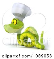Clipart 3d Chef Snake Slithering 2 Royalty Free CGI Illustration