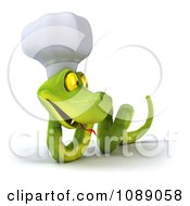 Clipart 3d Chef Snake Slithering 1 Royalty Free CGI Illustration