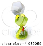 Clipart 3d Chef Snake Sticking Out Its Tongue Royalty Free CGI Illustration