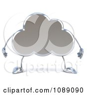 Clipart 3d Silver Cloud Character Royalty Free CGI Illustration by Julos