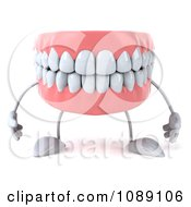 Clipart 3d Dentures Character Royalty Free CGI Illustration