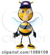 Clipart 3d Mechanic Bee Royalty Free CGI Illustration