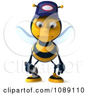 Clipart 3d Sad Mechanic Bee Royalty Free CGI Illustration by Julos