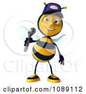 Clipart 3d Mechanic Bee Holding A Wrench 1 Royalty Free CGI Illustration by Julos