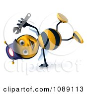Clipart 3d Cartwheeling Mechanic Bee Royalty Free CGI Illustration by Julos