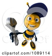 Clipart 3d Mechanic Bee Holding A Wrench 2 Royalty Free CGI Illustration by Julos