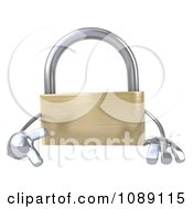 Clipart 3d Golden Padlock With A Sign 1 Royalty Free CGI Illustration by Julos
