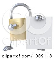 Clipart 3d Golden Padlock With A Sign 4 Royalty Free CGI Illustration by Julos