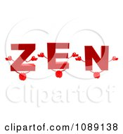 Clipart 3d Meditating Letters Spelling ZEN Royalty Free CGI Illustration