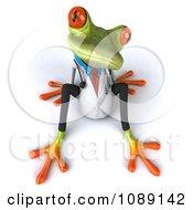 Clipart 3d Doctor Springer Frog Sitting Royalty Free CGI Illustration