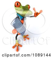 Clipart 3d Doctor Springer Frog Holding A Cell Phone 2 Royalty Free CGI Illustration