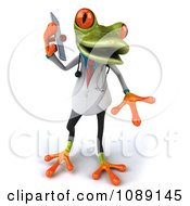 Clipart 3d Doctor Springer Frog Using A Cell Phone 3 Royalty Free CGI Illustration