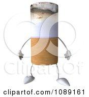 3d Tobacco Cigarette Character