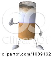 Clipart 3d Thumb Up Tobacco Cigarette Character Royalty Free CGI Illustration