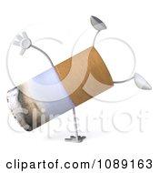 Clipart 3d Cartwheeling Tobacco Cigarette Character Royalty Free CGI Illustration