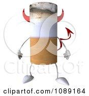 3d Devil Tobacco Cigarette Character