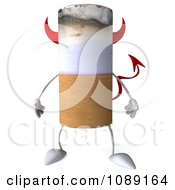Clipart 3d Devil Tobacco Cigarette Character Royalty Free CGI Illustration by Julos