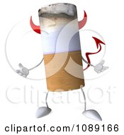 Clipart 3d Shrugging Devil Tobacco Cigarette Character Royalty Free CGI Illustration by Julos