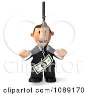 Clipart 3d Business Toon Guy Chasing Cash On A Stick 1 Royalty Free CGI Illustration