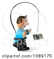 Clipart 3d Toon Guy Chasing Cash On A Stick 2 Royalty Free CGI Illustration