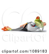 Clipart 3d Reclined Doctor Springer Frog Royalty Free CGI Illustration