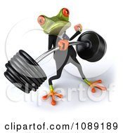 Clipart 3d Business Springer Frog Lifting A Heavy Barbell 4 Royalty Free CGI Illustration