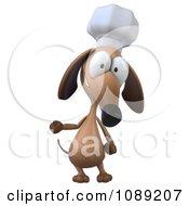 3d Chef Dachshund Dog Presenting 1